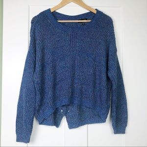 Express Criss Cross Sweater Small Knit Hi Lo